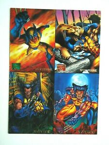 "1995 MARVEL MASTERPIECES WOLVERINE 4 CARD PROMO SHEET 5"" X 7"""