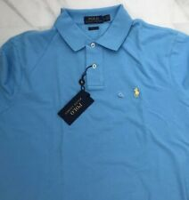 New Polo Ralph Lauren Men's Classic Fit  Polo Shirt Blue 100% Cotton Size L