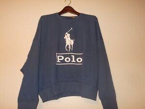 Polo Ralph Lauren Men's Navy Horse Polo Long Sleeve Sweatshirt Size XL $89.50