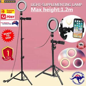 LED Studio Camera Ring Selfie Stand USB Plug Tripod with Phone Holder YouTube