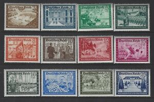 GERMANY - #B148-#B159 - POST OFFICE WORKERS MINT SET (1939) MNH VIBRANT COLOURS