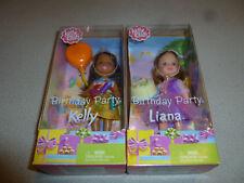 NEW IN BOX BARBIE KELLY CLUB DOLL LOT BIRTHDAY PARTY LIANA MATTEL NIB 2002 RARE