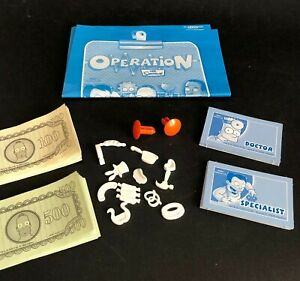 CHOOSE PARTS SIMPSONS OPERATION 2005 Game Replacements/Spares Cards Money Pegs