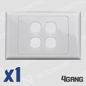 4 Gang Face Plate Wall Cover Electrical Port Jack Clipsal Compatible