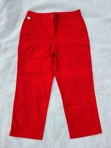 LIZ GOLF Size 8 Pants AUDRA Stretch Bright Red Capri Golf Pants ActiveWear
