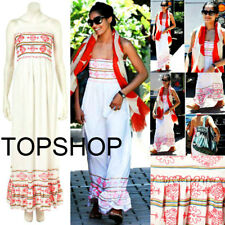 BRANDNEW TOPSHOP SUMMER BEACH~WEDDING~EVENING Embroidery MAXI DRESS £89 SOLDOUT