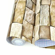 10m 3D Grau Stein Ziegel Optik Klebefolie Selbstklebende Tapete Wandpaneele