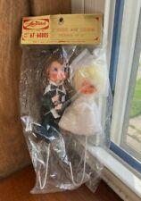 Lee Ward's Vintage Wedding Cake Topper - Bride and Groom MIP Mint in Package
