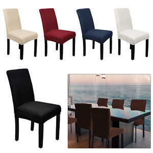 Dining Chair Seat Covers Polyester Slip Banquet Home Protective Stretch Covers