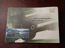 2004 04 Audi Allroad Car Owners Manual Book Guide All Models