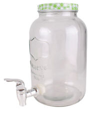 Glas Getränke Spender mit Zapfhahn 3,5l - Wasserspender Saftspender Dispenser