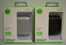 Studio by Belkin Universal 2-Port Home Charger Silver & Black available - New
