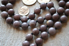 Purple Jade Hand Knotted Prayer Beads Meditation Japa Mala Necklace - Karma Nirv