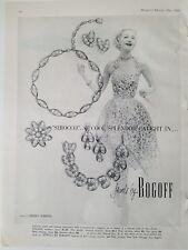 1954 BOGOFF rhinestone Sirocco necklace bracelet earrings jewelry vintage ad