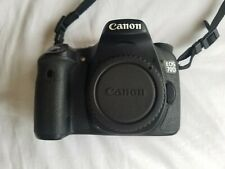 Canon EOS 70D 20.2MP Digital SLR Camera Black(Body Only) with body cap