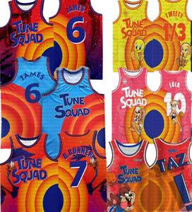 New Space James Lola Taz Tweety R.Runner Basketball Jerseys Kids Youth Adult