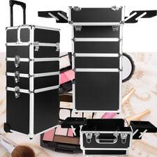Schwarz Schminkkoffer Make-up Kosmetik Friseurkoffer Beauty Trolley Beautycase