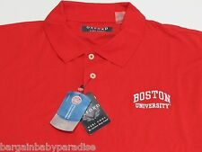 OXFORD America VERI COOL Red Boston University Cotton Blend Short Sleeve Shirt L
