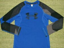 UNDER ARMOUR Long Sleeve BIG LoGo Fitted Novelty Shirt YSM Boys Small S 7/8