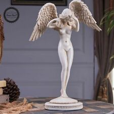 Large Art Deco Sculpture Nude Angel Woman Girl Resin Statue Figurine