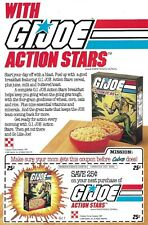 1985 GI Joe ACTION STARS CEREAL COUPON advertisement Starduster RARE insert JTC
