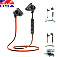 Bluetooth Headset Wireless Earbuds Sport Stereo Headphones Earphone Gym With Mic