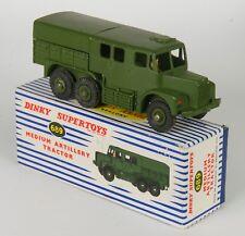 Dinky 689 Medium Artillery Tractor. Green. Very Near-MINT in Striped Box. 1950's