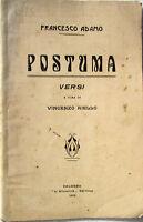 1910 libretto teatro Francesco Adamo-POSTUMA-Vincenzo Aiello-editrice Attualità