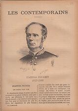 Amédée-Anatole-Prosper Courbet Amiral FRANCE JOURNAL COMPLET 16 PAGES 1892