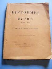 Charcot et Richer Les Difformes et les Malades dans l'Art 1889 Médecine
