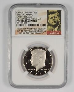 PF70 UCAM 2017-S Kennedy Half Dollar - Clad - Early Releases - Graded NGC *975