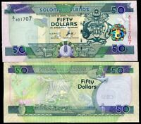 "SOLOMON ISLANDS 50 DOLLARS ND 2004 P 29 ""A/1"" PREFIX UNC"