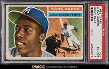 New listing 1956 Topps Hank Aaron GRAY BACK #31 PSA 6 EXMT