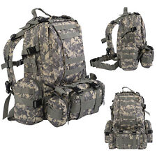 New 55L Outdoor Military Tactical Backpack Rucksack Camping Bag Hiking ACU