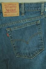 """Vintage Levi'S 505 Men""""S Stone Wash Blue Jeans Made In Canada Size 36/34 Vgc"""