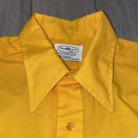 Vtg 50s 60s TOWNCRAFT Plus Shirt Penneys Midcentury Disco Big Collar MENS LARGE