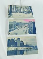First National Bank of Cortland County NY Vintage Postcard Lot 3 Historic Scenes