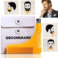 Groomarang Beard Shaping Template Comb Styling Tool Trimming Line Facial Care
