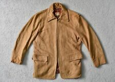 Vtg 40s MCGREGOR Sportswear Deerskin Suede Leather Jacket Rockabilly Short 38