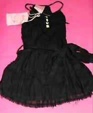 cotton on kids Brand GIRLS Black Belted Day Dress Size XS BNWT #BAB1