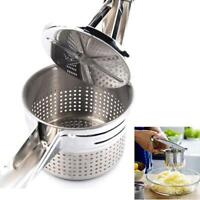 Manual Juicer Home Lemon Clip Squeeze Juice Garlic  Stainless Steel Q