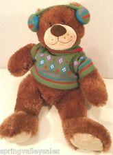 "Mary Meyer 18"" Teddy Bear Plush Stuff Animal Cabin Ski Lodge w/Sweater Earmuffs"