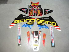 KIT GRAFICHE HONDA CR 125 250 CRF 250 CRF 450 GEICO NERO