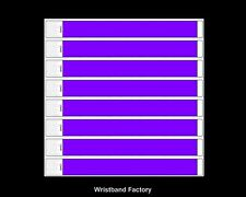 100x Tyvek Bright Purple Party Function Evnt Wristbands