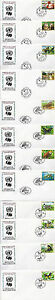 UNITED NATIONS 1998 ENDANGERED SPECIES ON 12 FIRST DAY COVERS SHSs