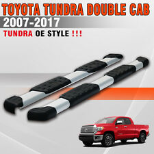 "Fit 07-18 Toyota Tundra Double Cab 5"" Running Board Side Step Nerf Bar Aluminum"