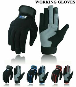 Safety Work Gloves Heavy duty Hand Protection Mechanic Gardening Builders Cut