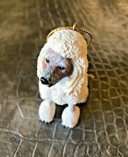 "Poodle Dog White Ornament 2.75"" x 2"" Box American Canine Association Collectors"