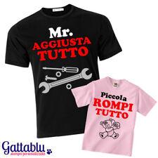 T-shirt papà e bimba Mr Aggiusta Tutto, Piccolo Rompi Tutto, padre figlia!