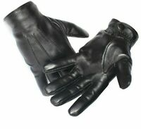 Men's Genuine Leather Gloves Winter Male Glove Real Sheepskin Black Touch Screen